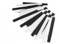 Suchý zip střihaný 2x20 cm 1 černobílý mix, 25 pár - zvětšit obrázek