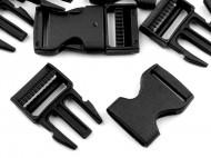 Spona trojzubec šíře 25 mm 2 (2) černá, 100 pár - zvětšit obrázek