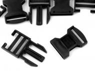 Spona trojzubec šíře 30 mm 2 (2) černá, 100 pár - zvětšit obrázek