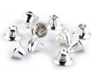 Zvoneček 12x20 mm 3 stříbrná sv., 10 ks - zvětšit obrázek