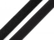Suchý zip háček + plyš samolepicí šíře 20 mm Black, 25 m - zvětšit obrázek