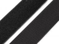 Suchý zip háček + plyš samolepicí šíře 50 mm černá, 1 m - zvětšit obrázek