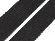 Suchý zip háček samolepicí šíře 50 mm Black, 1 m - zvětšit obrázek