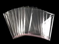 Celofánové sáčky s lepicí lištou 20x20 cm transparent, 100 ks - zvětšit obrázek