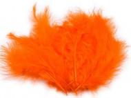Pštrosí peří délka 9-16 cm 1 oranžová, 1 sáček - zvětšit obrázek