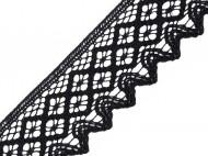 Bavlněná krajka šíře 68 mm paličkovaná 6100 černá, 30 m - zvětšit obrázek