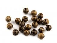 Dřevěné korálky 6 mm 1 přírodní tm., 200 ks - zvětšit obrázek