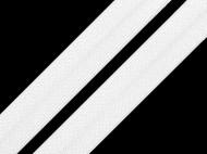 Lemovací pruženka půlená šíře 20 mm 2 bílá, 25 m - zvětšit obrázek
