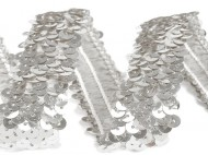 Flitrový prýmek šíře 20 - 30 mm elastický 1 (20 mm) stříbrná, 13.5 m - zvětšit obrázek