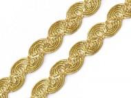 Leonský prýmek smyčky 1 zlatá, 13.5 m - zvětšit obrázek