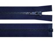 Kostěný zip šíře 5 mm délka 35 cm bundový 330 Medieval Blue, 1 ks - zvětšit obrázek