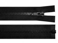 Kostěný zip šíře 5 mm délka 100 cm bundový 322 Black, 1 ks - zvětšit obrázek