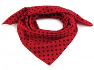 Bavlněný šátek s puntíky 65x65 cm 1 (bsp074) červená jahoda, 1 ks - zvětšit obrázek